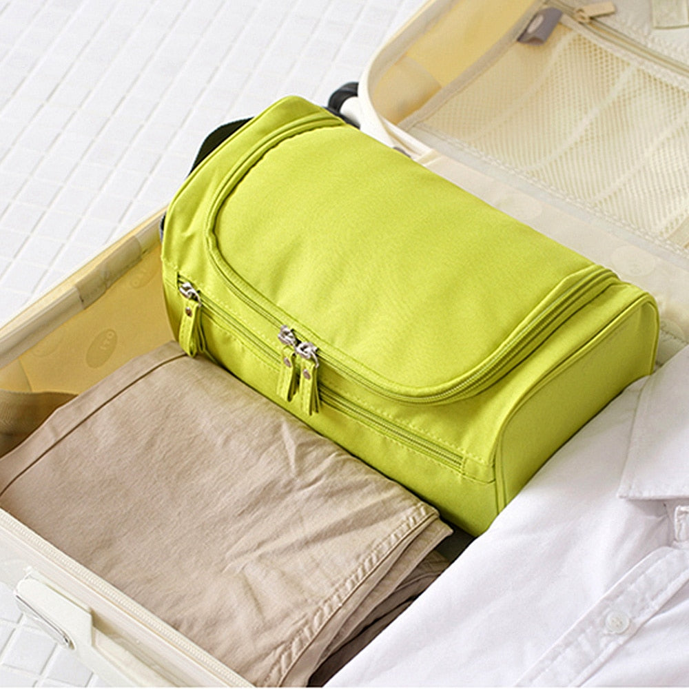 SLB Bags Large Waterproof Nylon Travel Cosmetic Bag Organizer Wash Bag