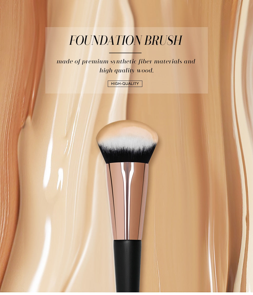 SLB Foundation Brushes Smooth Soft Comfortable Synthetic Hair