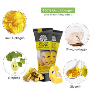 24K YELLOW GOLD COLLAGEN FACE MASK BLACKHEAD REMOVER