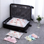 SLB Transparent Cosmetic Bag Flamingo Travel Makeup Case Women Zipper Make Up