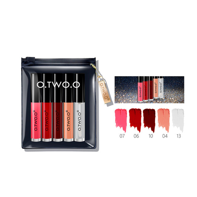 SLB 5 PCS Lip Gloss Set Velvet Liquid Lipstick Professional