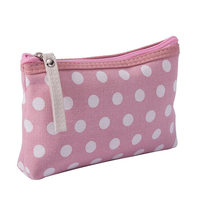 SLB Travel Cosmetic Zipper Purse Small Make Up