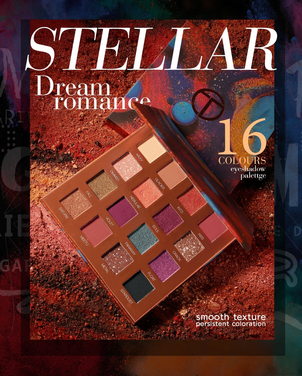 SHIMMER MATTE EYESHADOW HIGHLIGHTER 16 COLORS