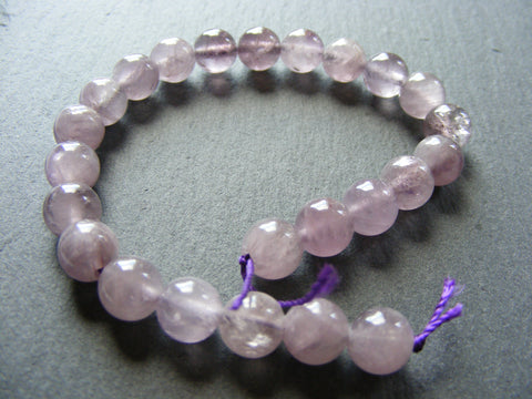Lavender Amethyst Round Beads Strands
