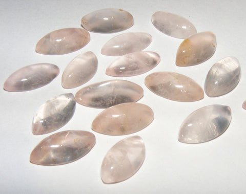 Rose Quartz Marquise Cabs