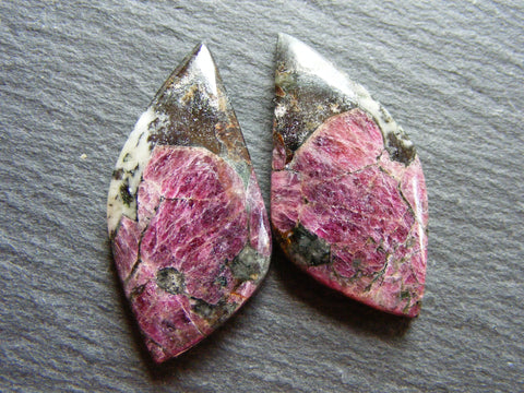 Eudialyte Fancy Cabs - Matching Pair