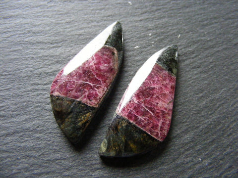 Russian Eudialyte Fancy Cabs - Matching Pair