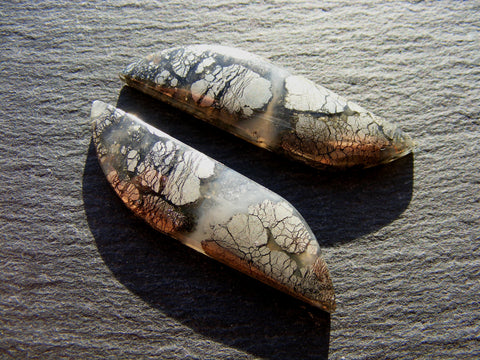 Marcasite Fancy Cabs - Matching Pair