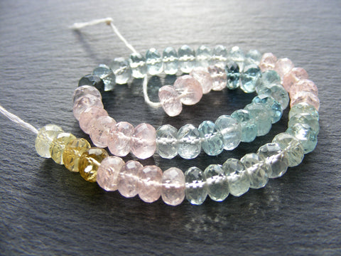 Colours of Beryl Faceted Beads - Fine Quality