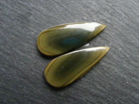 Imperial Jasper Pear Cabs - Matching Pair