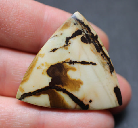 Indian Painting Jasper Triangular Cab