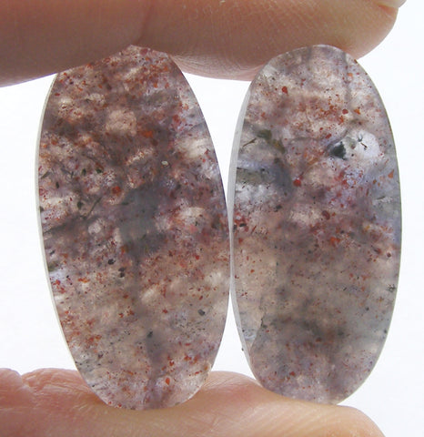 Iolite Sunstone Oval Cabs - Matching Pair