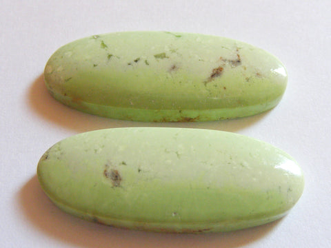 Lemon Chrysoprase Oval Cabs - Matching Pair