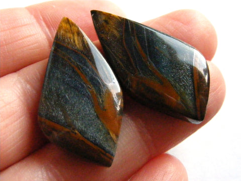 Tigers Eye Fancy Cabs - Matching Pair