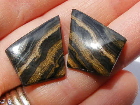 Aragonite Fancy Cut Cabs - Matching Pair