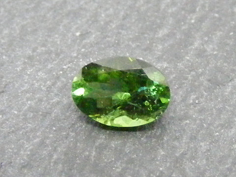 Green Tourmaline Oval Faceted Gem