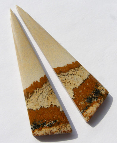 Picture Jasper Long Triangular Cabs - Matching Pair.