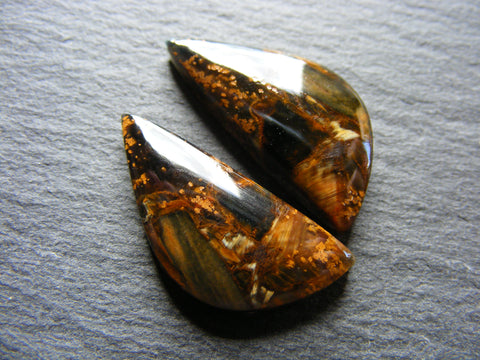 Pietersite Fancy Cabs - Matching Pair