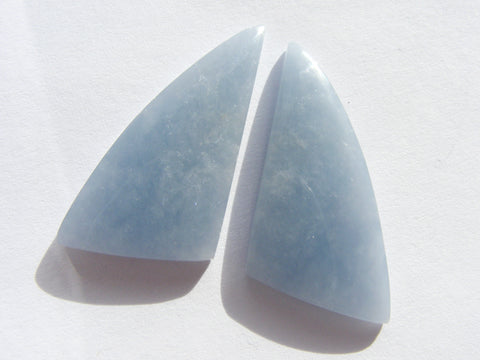 Angelite Fancy Cabs - Matched Pair