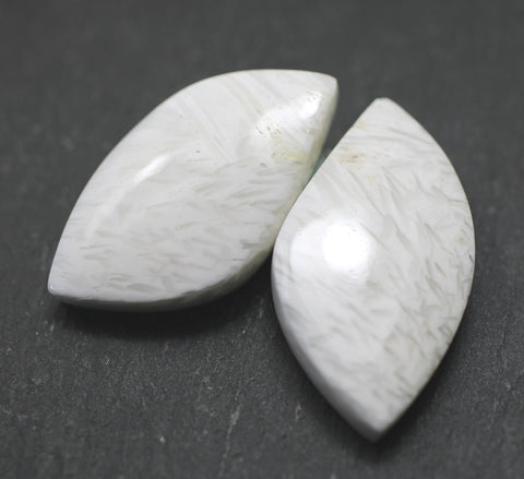 Scolecite Fancy Cabs - Pair