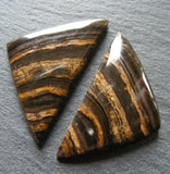 Aragonite Triangular Cabs - Matching Pair