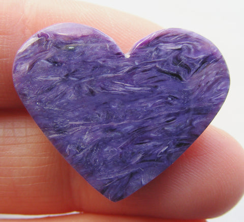 Pretty Charoite Heart Cab