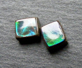 Ammolite Rectangular Cabs - Pair
