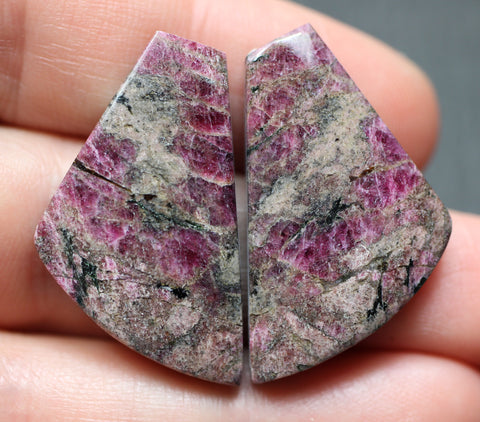 Eudialyte Fancy Cabs - Matching Pair.