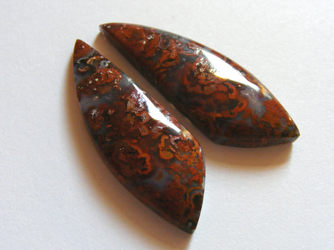 Hungarian Agate Fancy Cabs - Matching Pair
