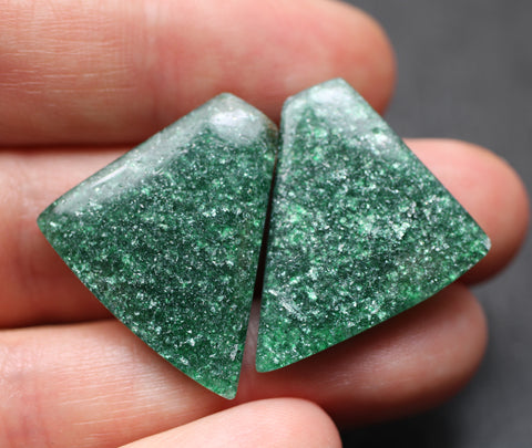 Aventurine Fancy Cabs - Matching Pair