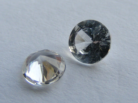 White Sapphire Round Faceted Gem