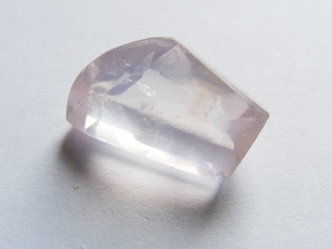Rose Quartz Free Form Faceted Gem