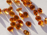 Golden Citrine Oval Faceted Gem - Vintage