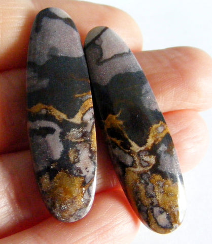 Picasso Jasper Oval Cab - Matching Pair