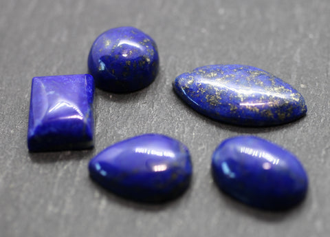 Lapis Lazuli Cabs - 5 Pack of Mixed Shaped Cabs