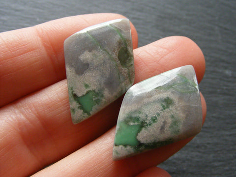 Variscite Fancy Cabs - Closely Matching Pair