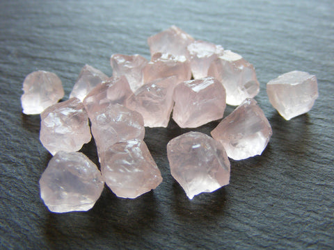 Rose Quartz Raw Nuggets - 5 Pack Top Grade