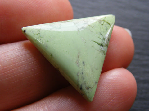 Lemon Chrysoprase Triangular Cab