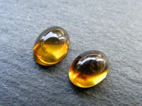 Brown Tourmaline Oval Cabs - Pair