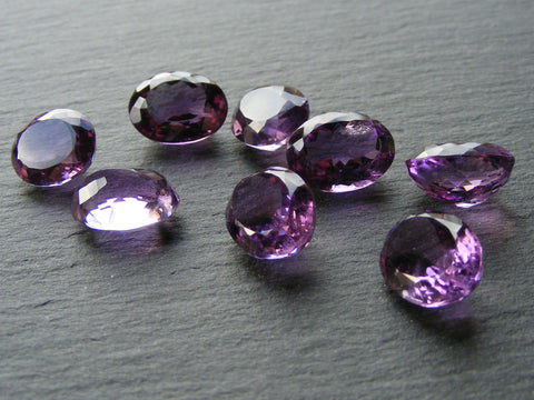 Dark Amethyst Oval Faceted Gems