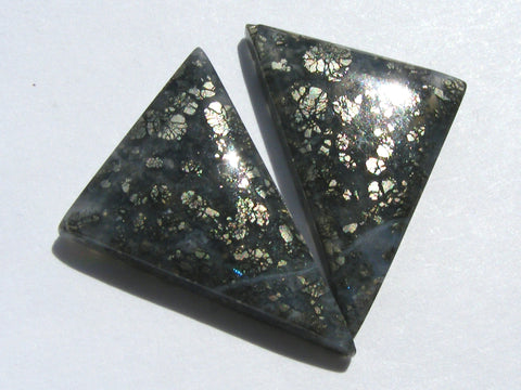 Marcasite Triangular Matching Pair Cab