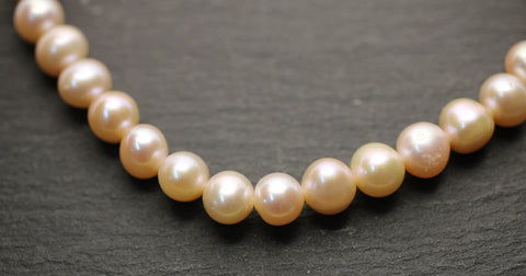 Cultured Fresh Water Pearls Soft Pink Strands
