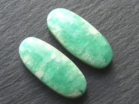 Chrysoprase Oval Cab - Matched Pair