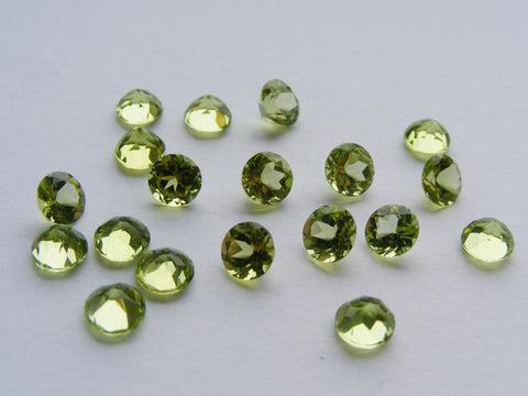 Peridot Round Faceted Gem - Vintage