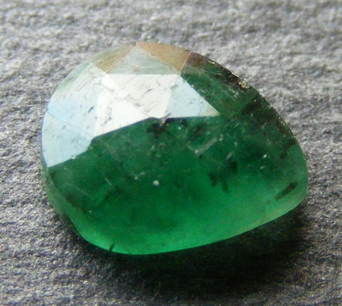 Natural Emerald Faceted Pear Cab