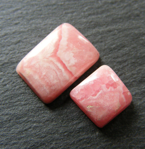 Rhodochrosite Cabs - Pack of Two