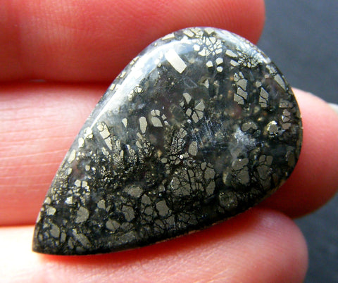 Marcasite in Agate Pear Cab