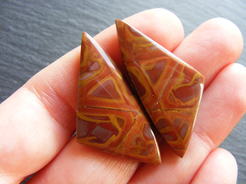 Noreena Jasper Fancy Triangular Cabs - Matching Pair