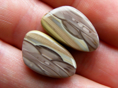 Imperial Jasper Fancy Cabs - Matching Pair