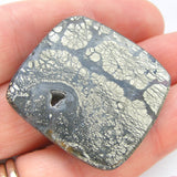 Marcasite in Agate Rectangle Cabochon